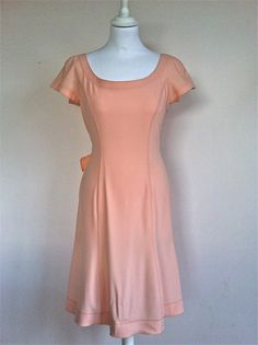 Moschino Cheap n Chic Flesh Scoop Neck Dress Size 38 via The Queen Bee. Click on the image to see more!