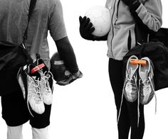 Klitch is a footwear clip that allows you to hang extra footwear to the outside of your bag.