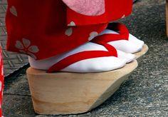 bb4a090b6ba wooden shoes worn by a geisha
