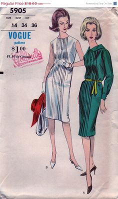 On+SALE+Vintage+Vogue+Pattern+5905++UNCUT+&+FF++Lovely+by+anne8865,+$17.11