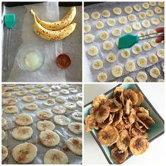 Bananen chips zelf maken eetclean