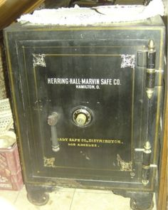 Hall Marvin Safe - Keep your valuables safe with this heavy duty antique safe. It even has mini compartments inside with their own key for double security!