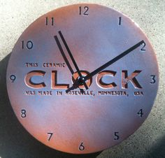 Ceramic Clock  Handbuilt by CsquaredCeramics on Etsy, $70.00