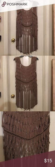 Beaded Fringe Cardigan Super soft material, never worn, like-new condition, did not come with tags. Size could be considered OSA. Very stylish! Sweaters Cardigans