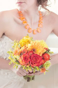 red and yellow summer bouquet