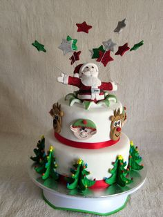 2012 Christmas Cake.  My first fondant covered cake.
