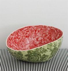 Samantha Robinson handmade Watermelon #Bowl #ceramics #pottery