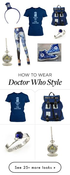 """Doctor Who Fan Girl"" by alyssanickson on Polyvore featuring Converse"