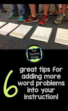 SIX Ways to Incorporate More Word Problems into Your Day! We all know how important problem solving is--check out these easy suggestions!