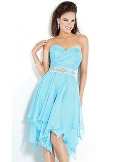 Sleeveless Beading Chiffon Sweetheart A-line Prom Dress