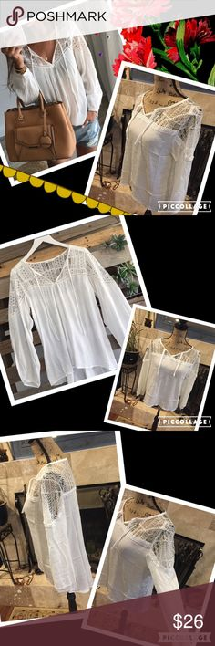 Bohemian peasant blouse High/low cut. Cotton blend with upper lacing. Brand new. Similar: urban outfitters, free people, for love and lemons, brandy melville, stone cold fox, one teaspoon, top shop, nasty gal, reformation gypsi's Tops