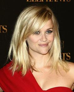 #bangs #haircut for a heart shaped face American actress Reese Witherspoon