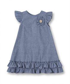 Idea for dress for Mad Cotton Frocks For Kids, Frocks For Girls, Little Girl Dresses, Kids Dress Wear, Kids Gown, Girls Denim Dress, Kids Wear, Girls Frock Design, Baby Dress Design