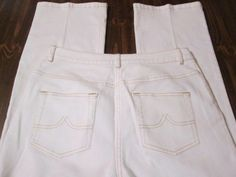 """Brooks Brothers 346 Womens 6 White Stretch Cotton 5 Pocket Jeans 29"""" x 32"""" #BrooksBrothers #CasualPants"""