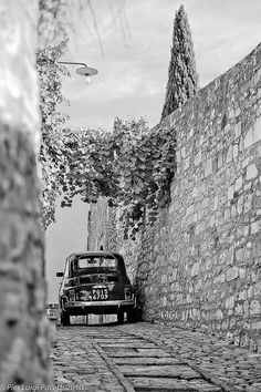 Pier Luigi Pacetti ~  Little Fiat 500 in Spello, ancient town of Italy, in the province of Perugia http://autopartstore.pro