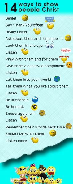 14 ways to show people Christ. Click on the image to read the devotional and download the image