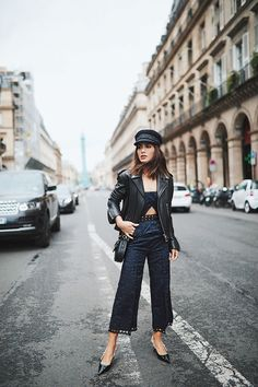 fc31bbcc501 leather jacket and black hat cap newsies hat in new york style fall and  winter Minimalistic · White OutfitsTrendy ...