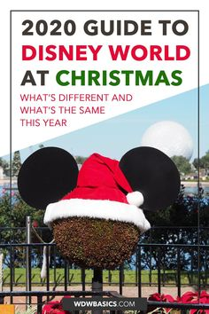 Guide to Christmas at Disney World in 2020 // WDW Basics // Disney World at Christmas in 2020 will be different than recent years. Here's what to expect for your Disney World Christmas 2020 plans. // PIN THIS and TAP TO READ #disneyworldchristmas #disneyworld2020