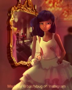 Cr: ANOTHER imagination is that if Marinette saw Adrien dancing/talking with Kagami at a prom 🥺 Easy Cartoon Drawings, Cute Disney Drawings, Disney Princess Drawings, Disney Princess Pictures, Miraculous Ladybug Kiss, Les Miraculous, Meraculous Ladybug, Ladybug Comics, Fanart