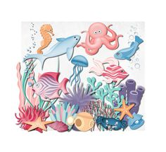Under the Sea Nautical Clip Art Clipart Sea Ocean by ChangingVases, $5.00