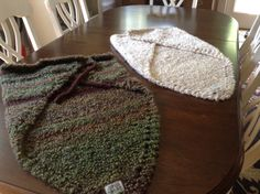 The maiden voyage of Last Bard Fiber Arts! Two prayer shawls, headed to market.