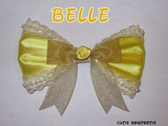 Redesign Belle Hair Bow Beauty and the Beast Disney Inspired
