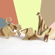 Animal kingdom collection - handmade The Animal kingdom collection is made of five African animals - giraffe, lion, elephant, rhino, monkey.