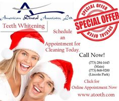 Don't let yellow teeth ruin your upcoming chrismas holiday, Schedul an appointment and cleaning today. For an initial consultation you can freely contact us at (773) 868-9200 and (773) 284-1645. Our friendly and understanding dentist explain each and every detail of the procedure.