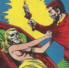 Old Comics, Vintage Comics, Comic Books Art, Comic Art, Foto Pop Art, Perspective Art, Figure Poses, Classic Horror Movies, Pulp Art