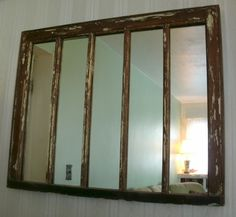 Made from an old window sash and mirror from the Muskegon County Habitat For Humanity ReStore.