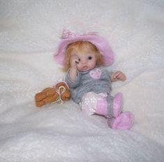 OOAK HAND SCULPTED POLYMER CLAY ORINGINAL MINI BABY GIRL ART DOLL by IHALL   Dolls & Bears, Dolls, Art Dolls-OOAK   eBay!