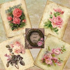 Hey, I found this really awesome Etsy listing at https://www.etsy.com/listing/155928671/old-printable-pink-roses-pink-rose
