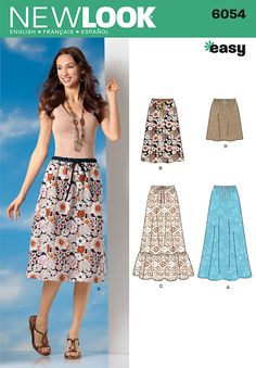 Simplicity : 6054 - Adorable skirts, and so simple ($4.29 for pattern)