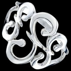 Silver ring, esses Silver ring, Ag 925/1000 - sterling silver. Stylized S shapes.