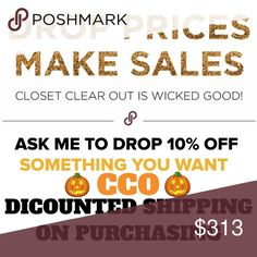 🎃 Ask Me To drop Prices 🎃 ASK ME TO DROP PRICES 10% or MORE EVERYTHING IS NEGOTIABLE🎃🎃🎃❤️ 10%++++ Other