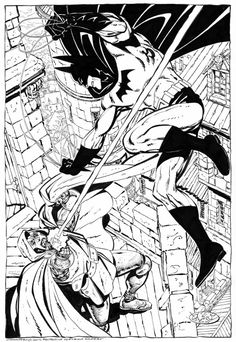 Batman Vs Doctor Doom commission by John Byrne. 2014.