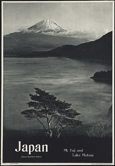 Japan. Mt. Fuji and Lake Motosu by Boston Public Library, via Flickr