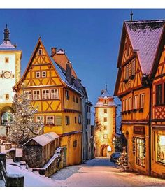 Rothenburg, Germany Rothenburg is the kind of village you only thought existed in a fairy tale. It's a snowy dream.
