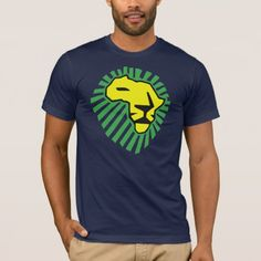 Waka waka Lion Head This Time For Africa T-Shirt 2 side Size: Adult L. Time For Africa, Waka Waka, Lion Shirt, American Apparel, Tshirt Colors, Fitness Models, Tee Shirts, Yellow, Casual