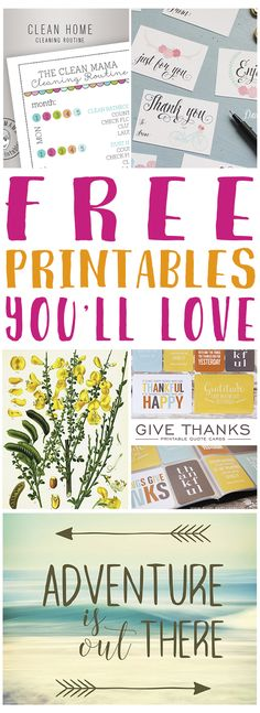 These are some great free printables! Love!