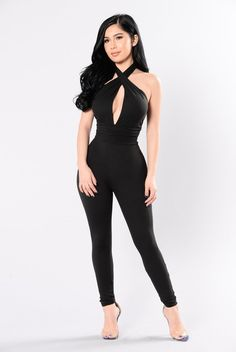 Are You Feeling It Jumpsuit - Black