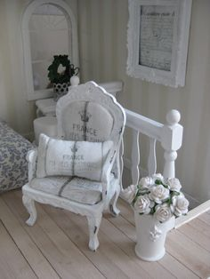 Miniature Shabby Chic Room; 1/12 scale