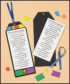 Ten Commandments Bookmark Craft Kit use mountain theme