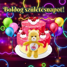 Boldog születésnapot! - Megaport Media Share Pictures, Animated Gifs, Birthday Cake, Watch, Halloween, Awesome, Diy, Clock, Bricolage