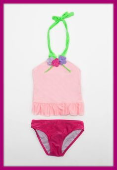 """Pin It"" Love U Lots 2-Piece Light Pink Swimsuit for girls $34.99.  Soooo adorable. Kids swimwear, little girls swimsuits, cute swimsuit for girls.  http://www.simplyvelvet.com/product-p/lul22442.htm"