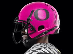 Love the pink football helmet