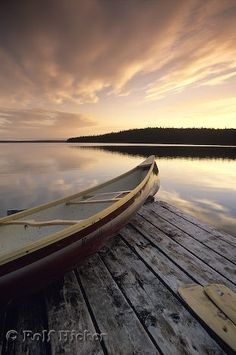 There is nothing more peaceful than getting in my canoe and drifting down the river.