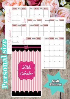 Personal Size  Calendar Monthly Planner Planner  Nediplanner