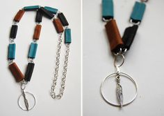 leather scraps necklace tutorial