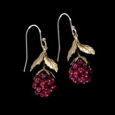 Raspberry Earrings by Michael Michaud Jewelry at BestAmericanArts.com
